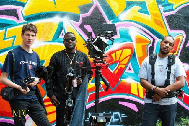 Skales video shoot
