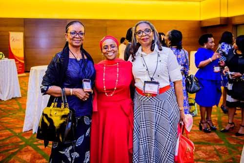 Three women who are chairman of three banks in Nigeria. Osaretin Demuren of GTBANK,Belo-Olusoga of Access Bank and Ibukun Awosika of First Bank Nigeria