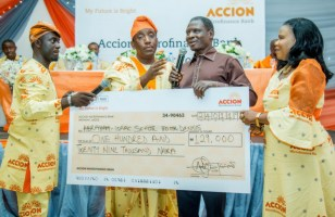 Accion microfinance bank donation