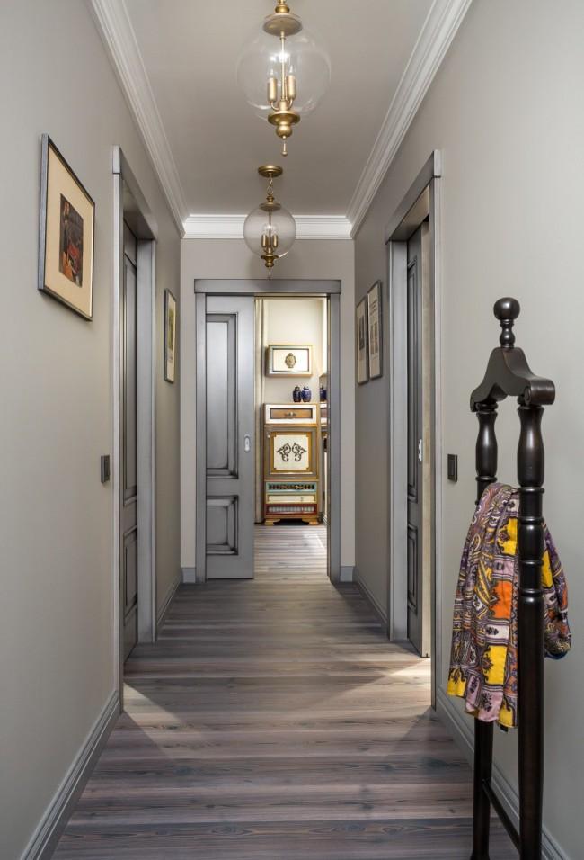прихожая для узкого коридора дизайн фото 1
