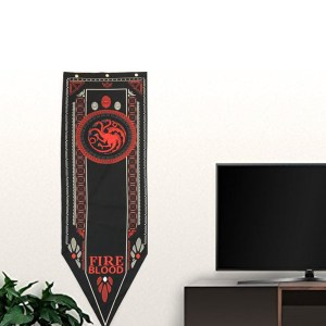 Game-Of-Thrones-Stark-Targaryen-Greyjoy-Lannister-Bolton-House-Families-Flag-Home-Decor-Wolf-Dragon-Polyester_Targaryen A006