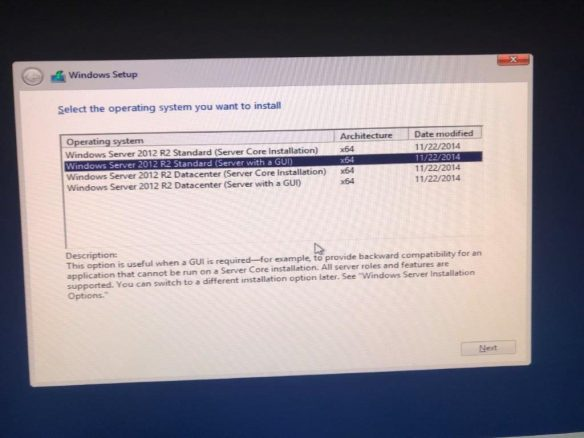 Installasjon Windows Server 2012