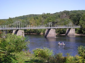 Lumberville-Raven Rock Bridge between NJ and PA across the Delaware River. Source: By Aerolin55 - Own work, CC BY-SA 3.0, https://commons.wikimedia.org/w/index.php?curid=7985588