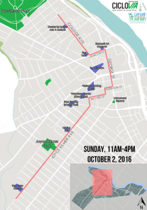 Ciclovia Map, Fall 2016