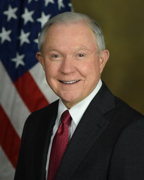 Portrait of Attorney General Jeff Sessions.