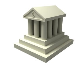 Iconic image of a bank.