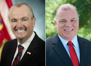Image of NJ Governor Phil Murphy and Senate President Stephen Sweeney