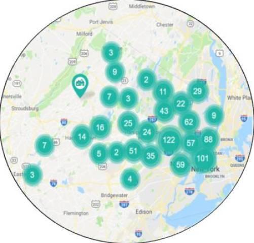 North Jersey Condos Map