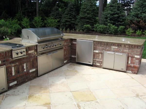 brick patio with outdoor kitchen Outdoor Kitchen & BBQ Design & Installation Bergen County NJ