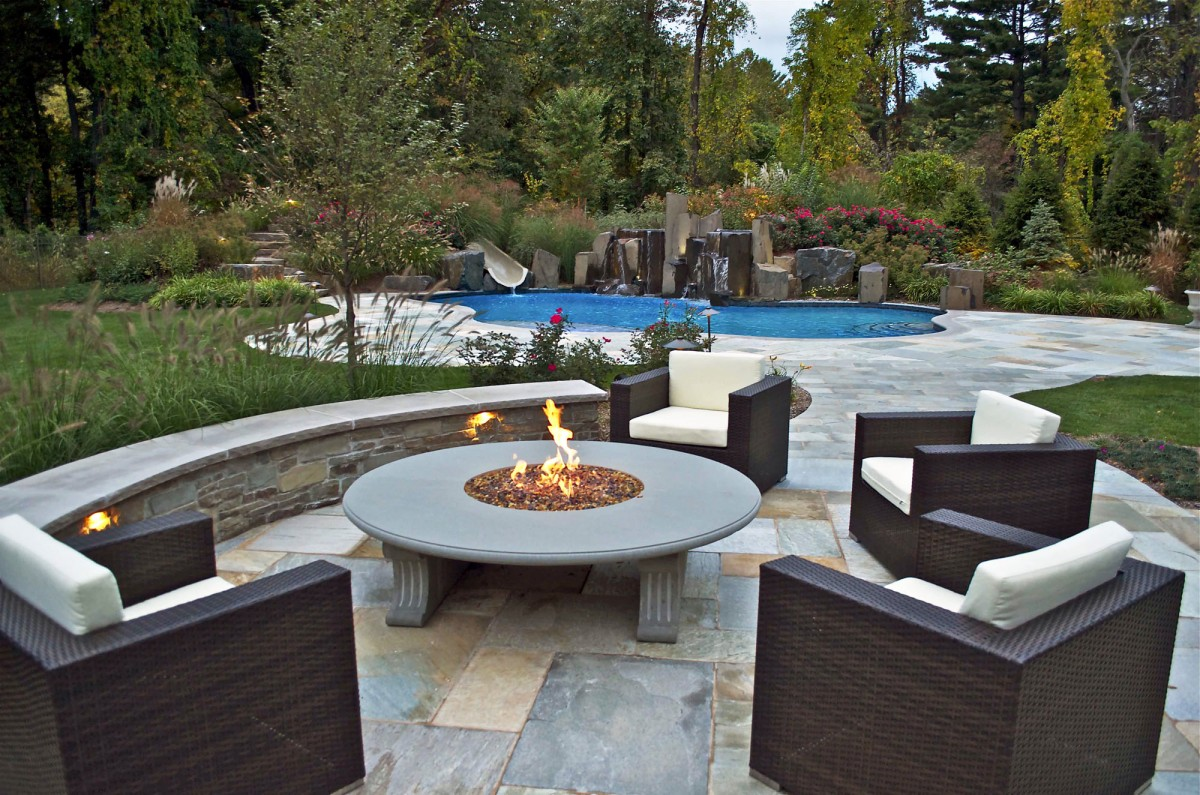 Outdoor Fireplace/Fire Pit Design/Installation-Northern NJ on Living Room Fire Pit id=65754