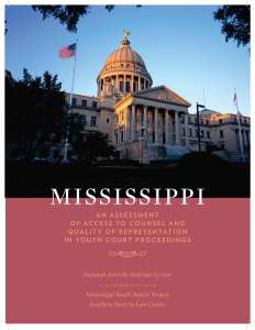 Mississippi Assessment Cover Page