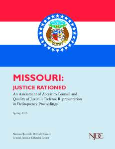 Missouri Assessment Cover Page