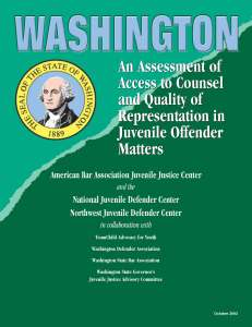 Washington State Assessment Cover Page