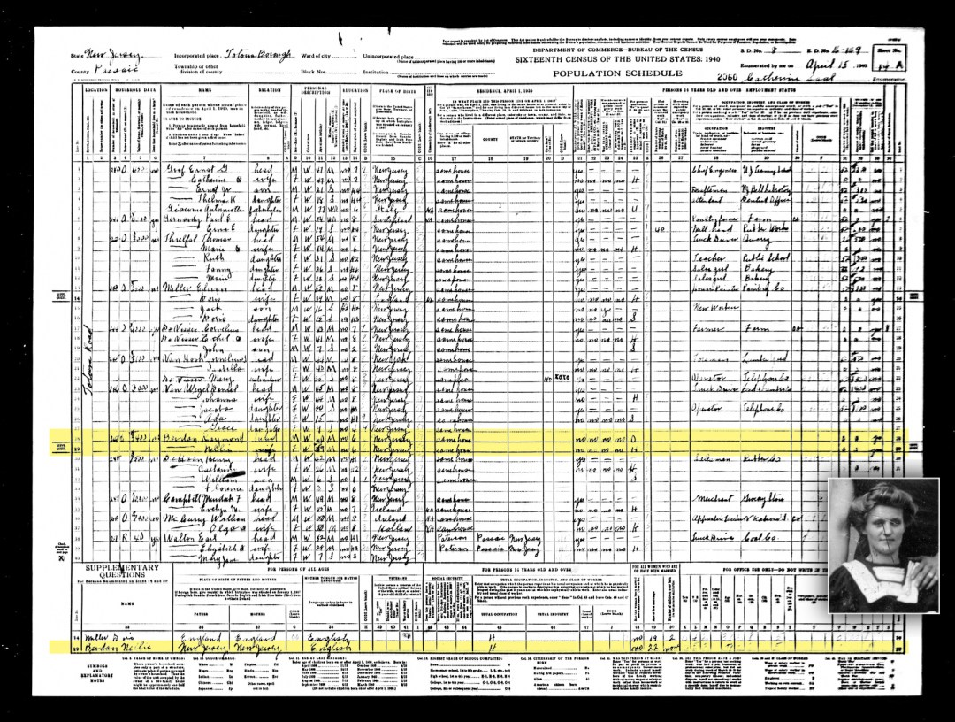 1940 US Census-Nellie Berdan