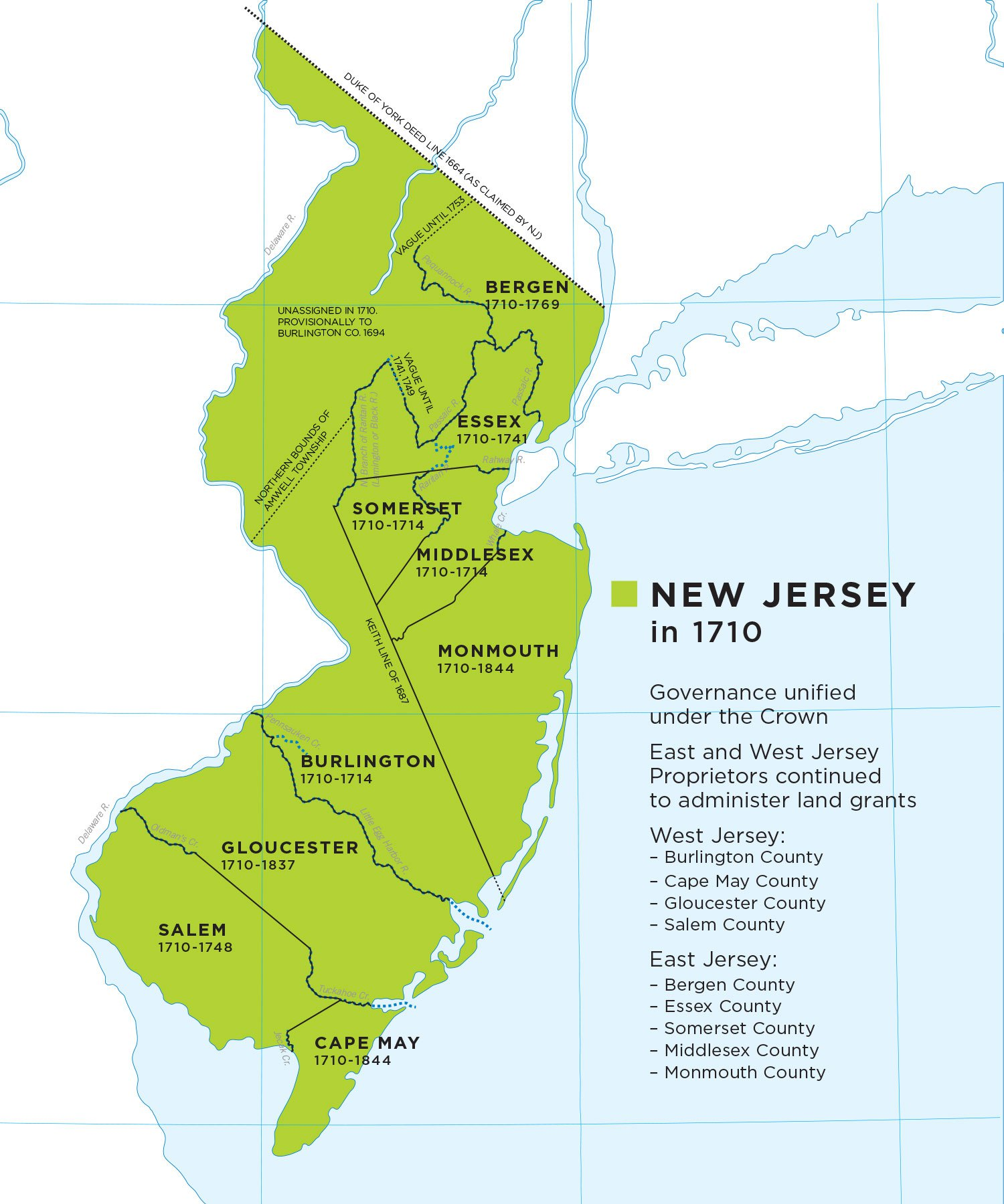New Jersey at 350 — A Short History of Colonial New Jersey Land ...