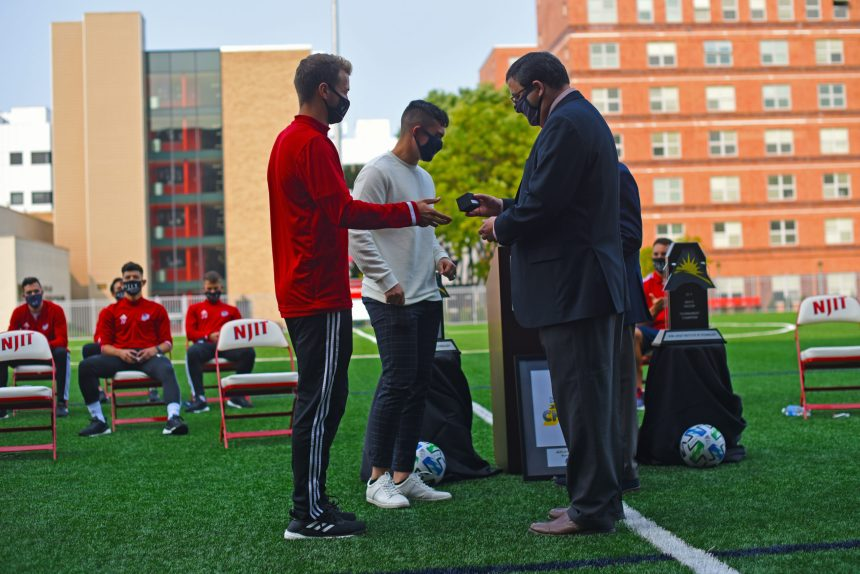 Historic Victory by Men's Soccer Team Honored at Ring Ceremony
