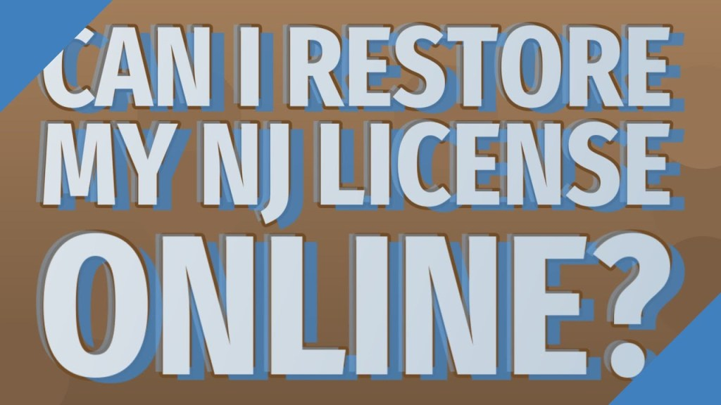 njmc restore license