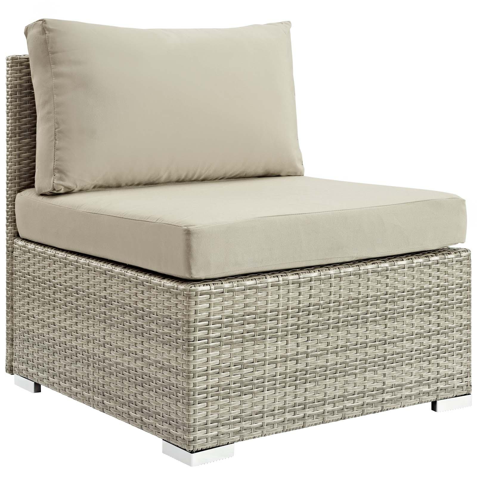 repose sunbrella fabric outdoor patio armless chair