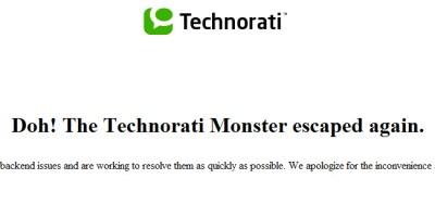 Technorati, deepening malfunction
