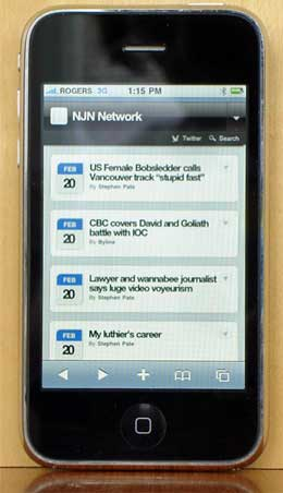 NJN Network on iPhone
