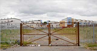 Irish housing project abandoned when real estate market colllapsed  image: Eoin O'Conaill for the International Herald Tribune.