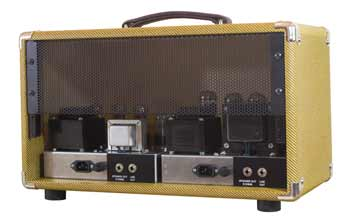 Little Walter 50 22 Twin tube amp showing two amps in one