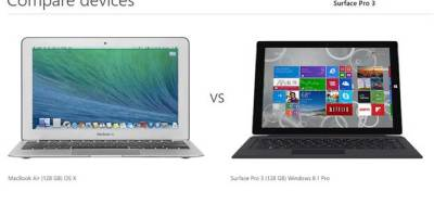 MacBook Air versus Surface Pro 3