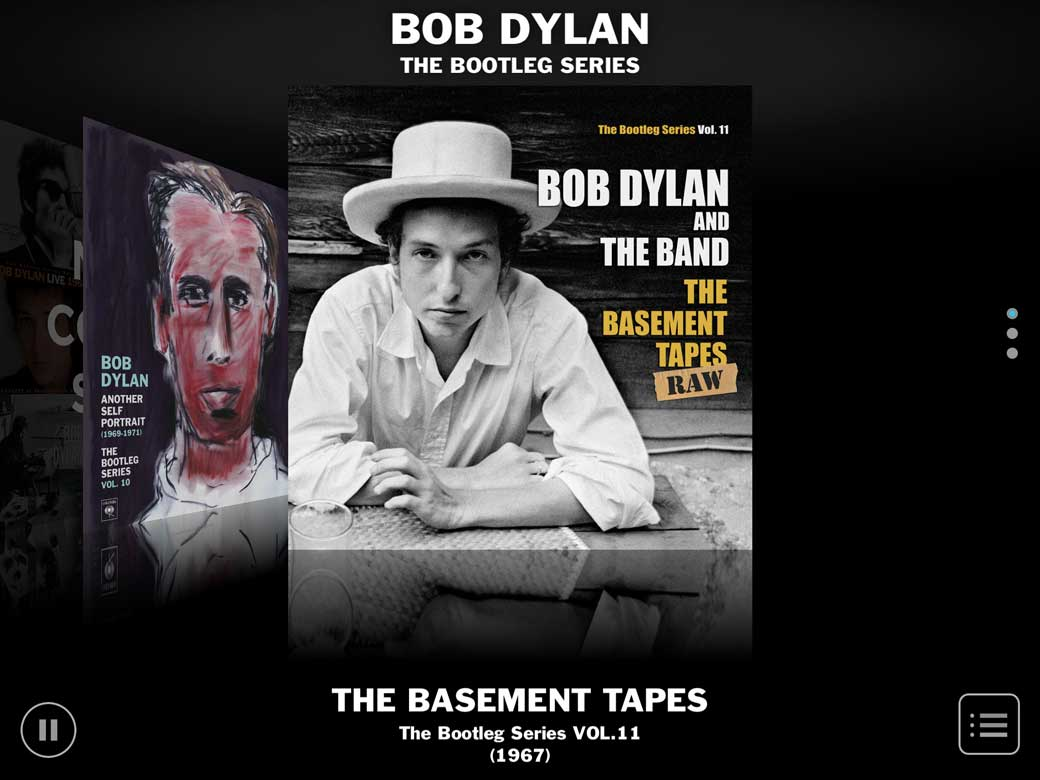 bob dylan bootleg app covers the basement tapes njn network. Black Bedroom Furniture Sets. Home Design Ideas