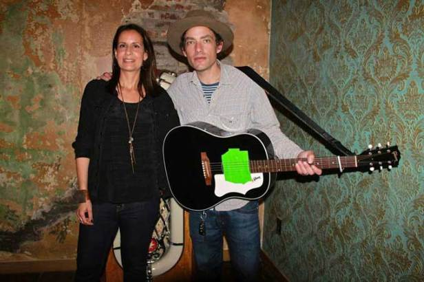 Stacy and Jakob Dylan at 2014 Fundraiser for Connecting To Cure Crohn's and Colitis (all photographs from Facebook and the property of Connecting To Cure Crohn's and Colitis - no commercial use allowed)