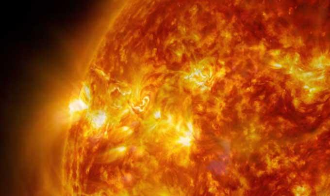 Solar eruption NASA public domain
