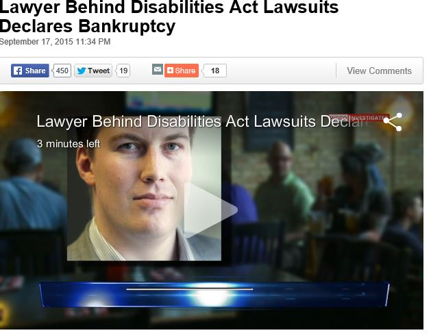 Lawyer Behind Disabilities Act Lawsuits Declares Bankruptcy