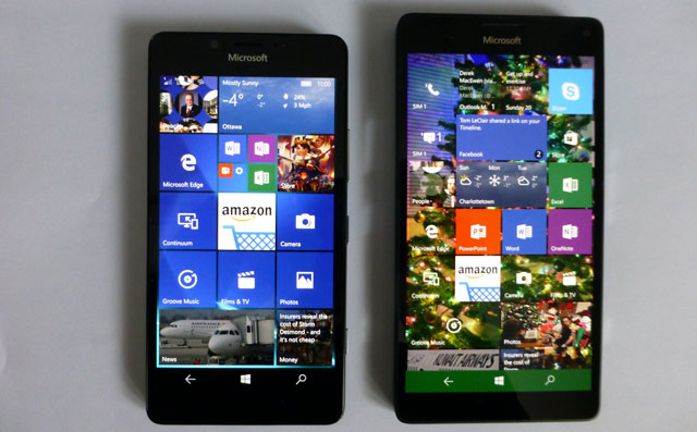 Windows 10 Mobile on Lumia 950 and 950 XL