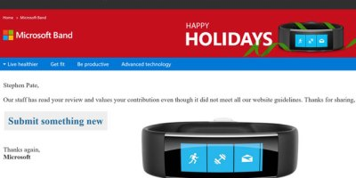 Band 2 review rejected by Microsoft Store