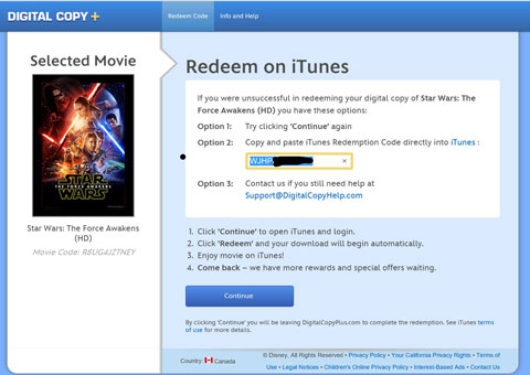 How To Redeem Your Free Star Wars Movie on iTunes or Google Play