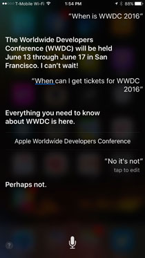 Siri leaks date for WWDC 2016 (photo The Verge)