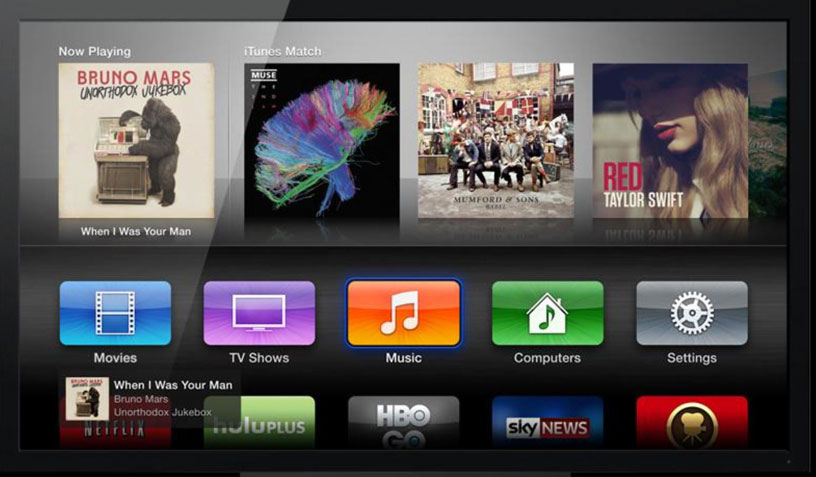 Apple TV iTunes Match can be difficult to connect to the cloud (illustration Digital Trends)