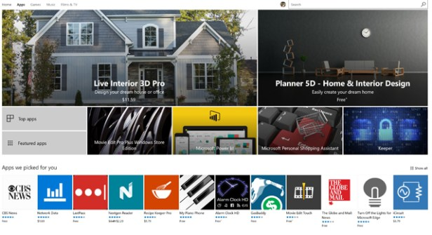 Creators Update Store gets refresh and new apps (photo NJN Network)