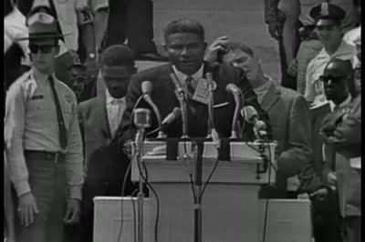 ". ""I have a dream"" speech at the March on Washington. Ossie was an emcee before Dr. King spoke. Ruby also addressed the crowd. Then Martin made history."