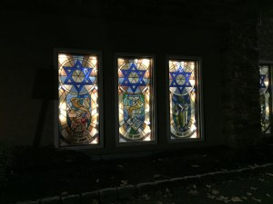 Synagogue windows at Care One