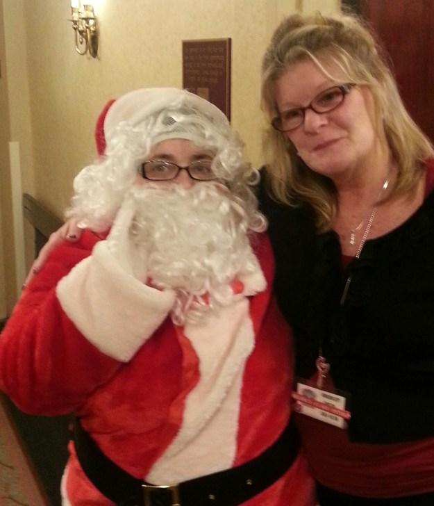Santa with Regency Grande Admissions Director, Carla Holton.