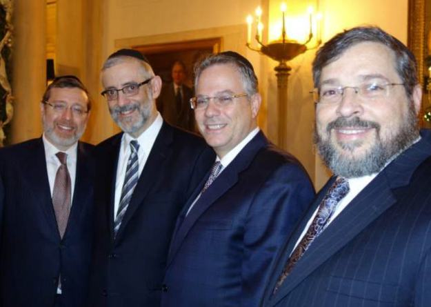Regency Founder, David Gross, is second from the right, seen standing with other Jewish Lay Leaders and Professionals