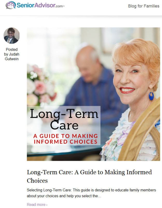 senioradvisor-informed choices article