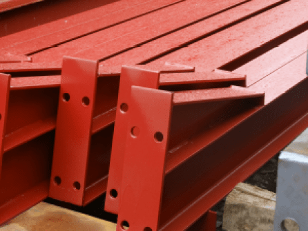 Painted rafters with welded haunches