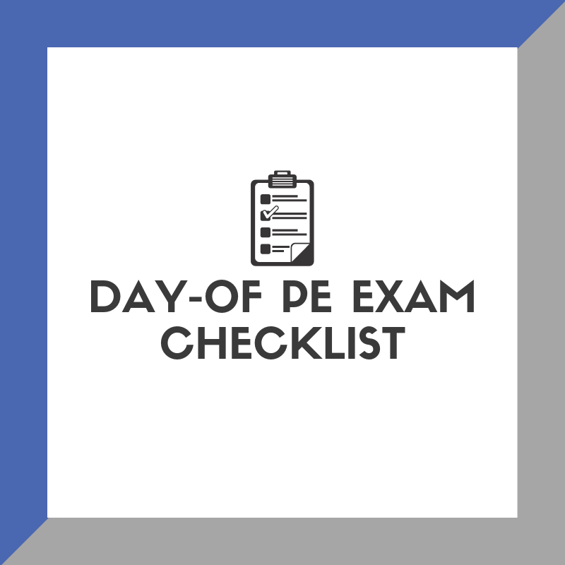 day of pe exam checklist
