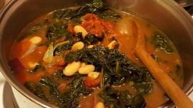 Kale-tomato-bean soup