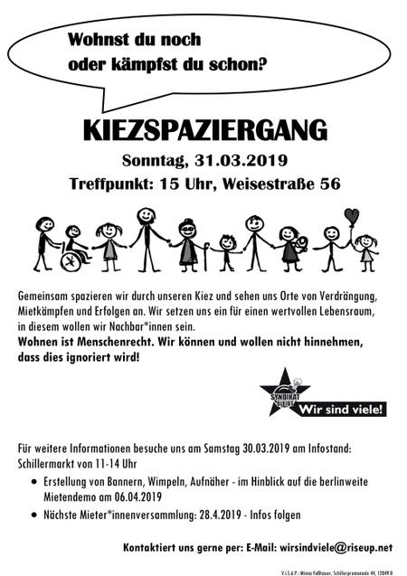 Kiezspaziergang Schillerkiez 31.3.2019