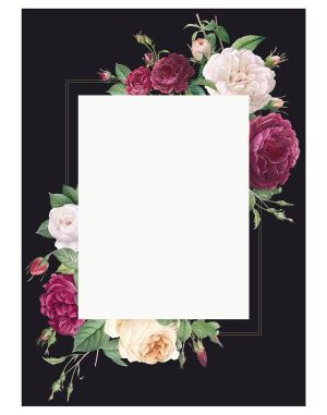 Floral-wedding-invitation-welcome-board