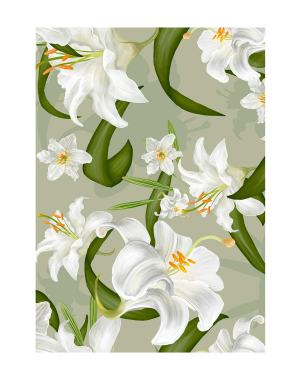 Lily-Floral-welcome-board