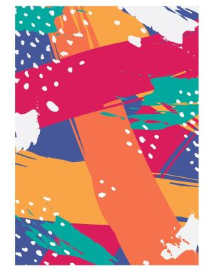 Multi-colorful-geometric-welcome-board