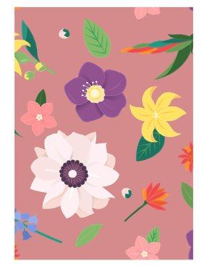Multicolor-flower-welcome-board